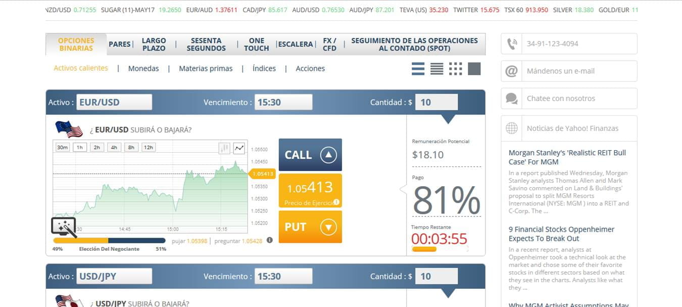 Binary options en espanol